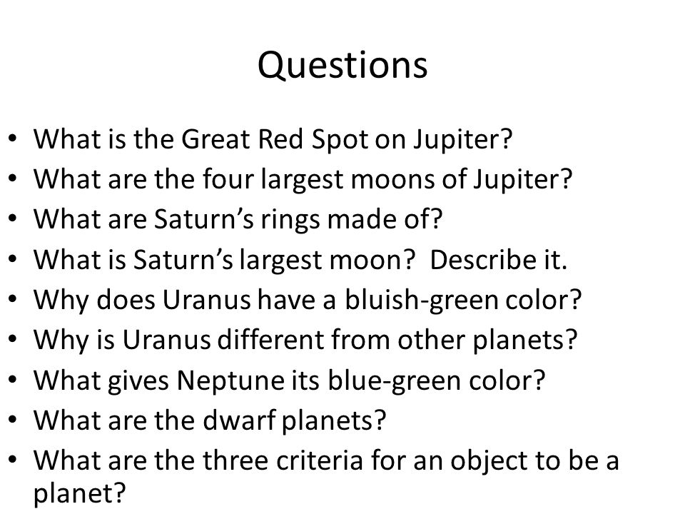 Questions What is the Great Red Spot on Jupiter