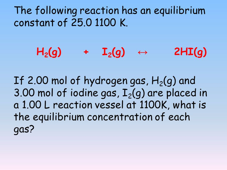 The following reaction has an equilibrium constant of K.