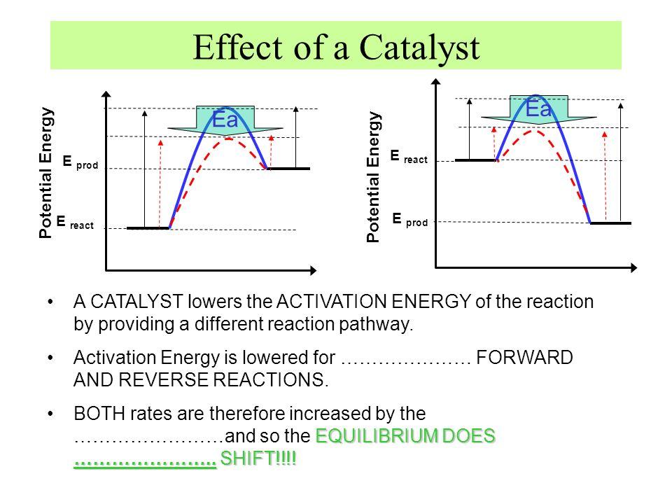 Effect of a Catalyst Ea Ea