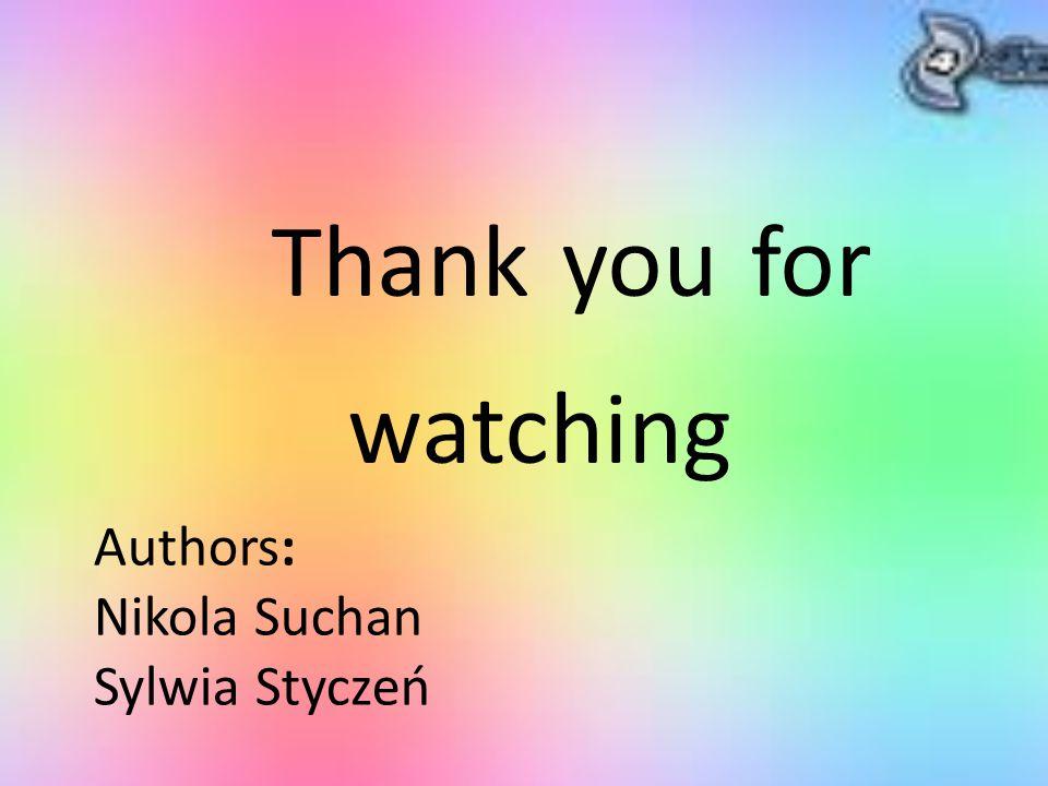 Authors: Nikola Suchan Sylwia Styczeń