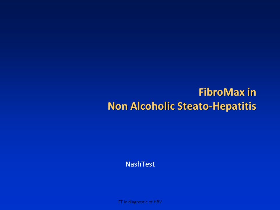 FibroMax in Non Alcoholic Steato-Hepatitis