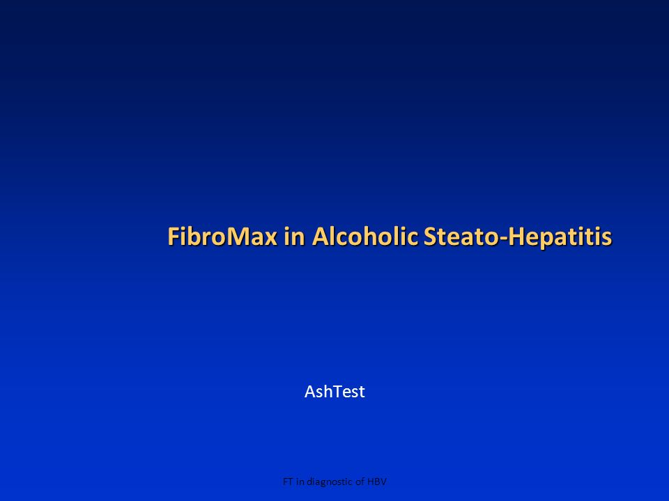 FibroMax in Alcoholic Steato-Hepatitis