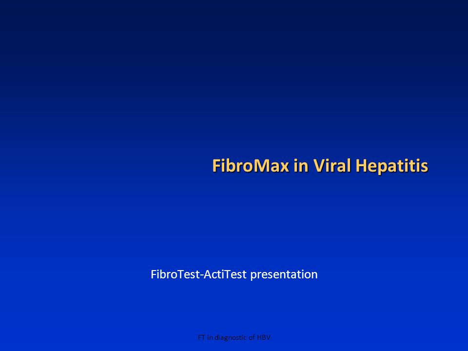 FibroMax in Viral Hepatitis