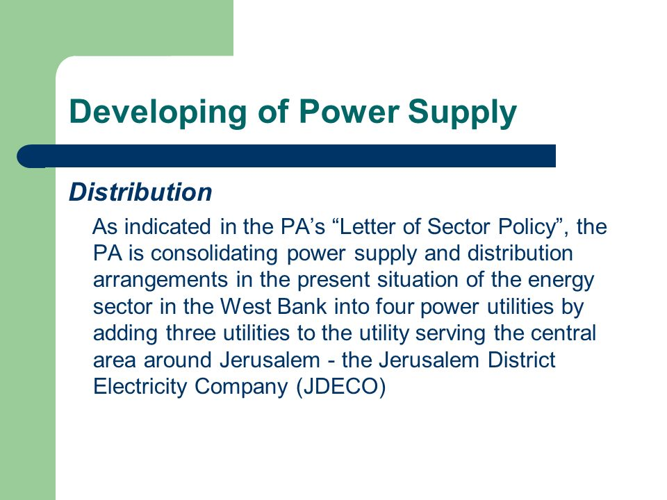 Developing of Power Supply