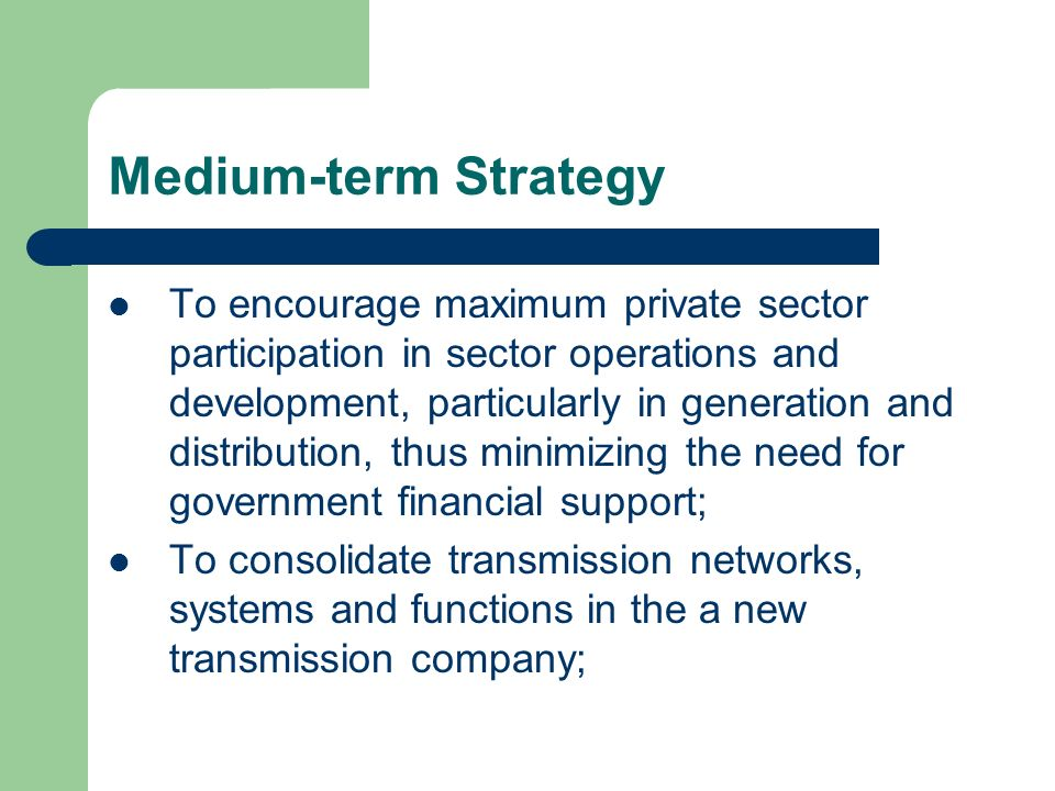 Medium-term Strategy