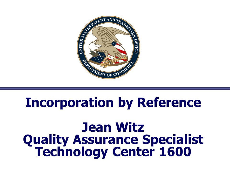 Incorporation by Reference Quality Assurance Specialist