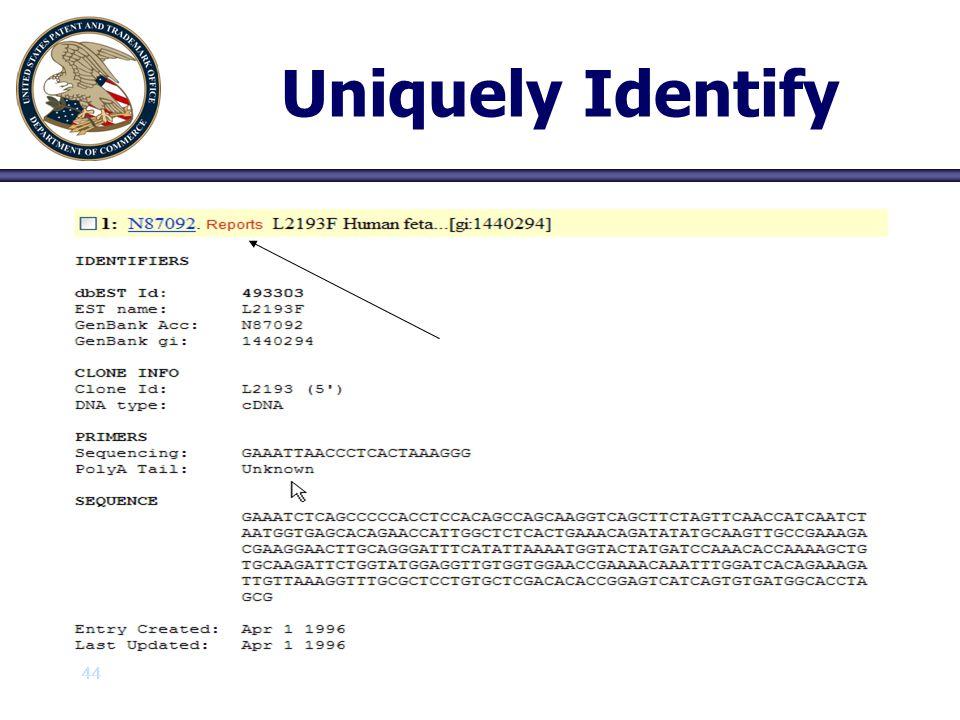 Uniquely Identify 44