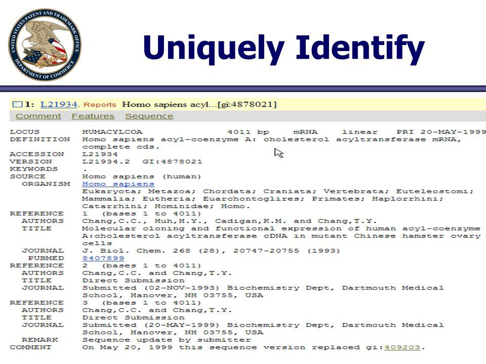 Uniquely Identify 46