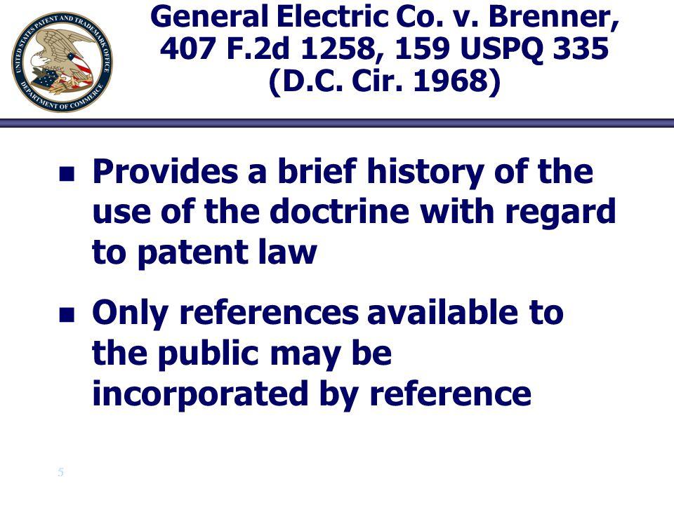 General Electric Co. v. Brenner, 407 F. 2d 1258, 159 USPQ 335 (D. C