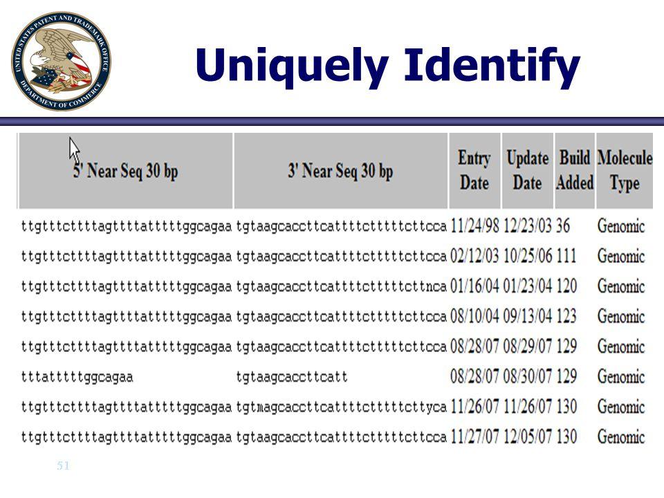 Uniquely Identify 51