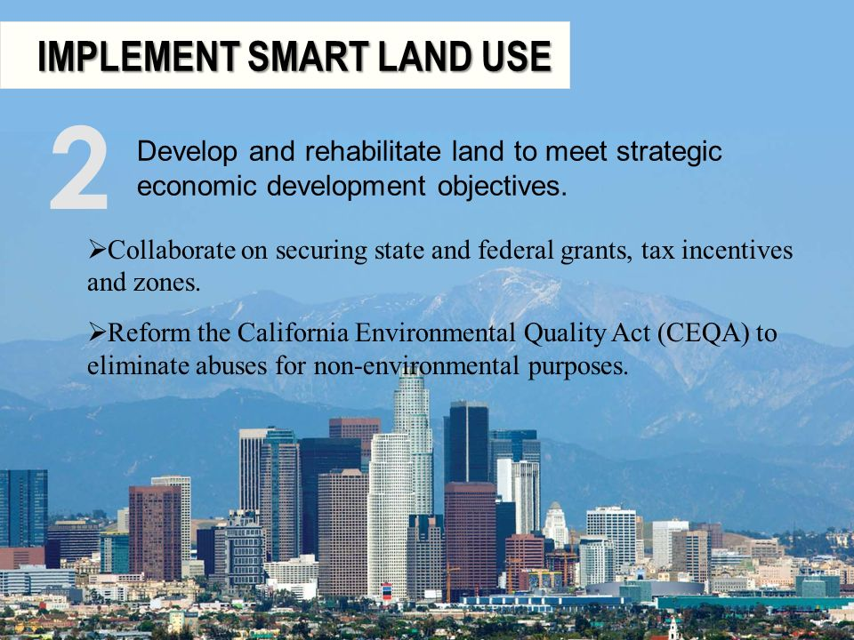 2 IMPLEMENT SMART LAND USE