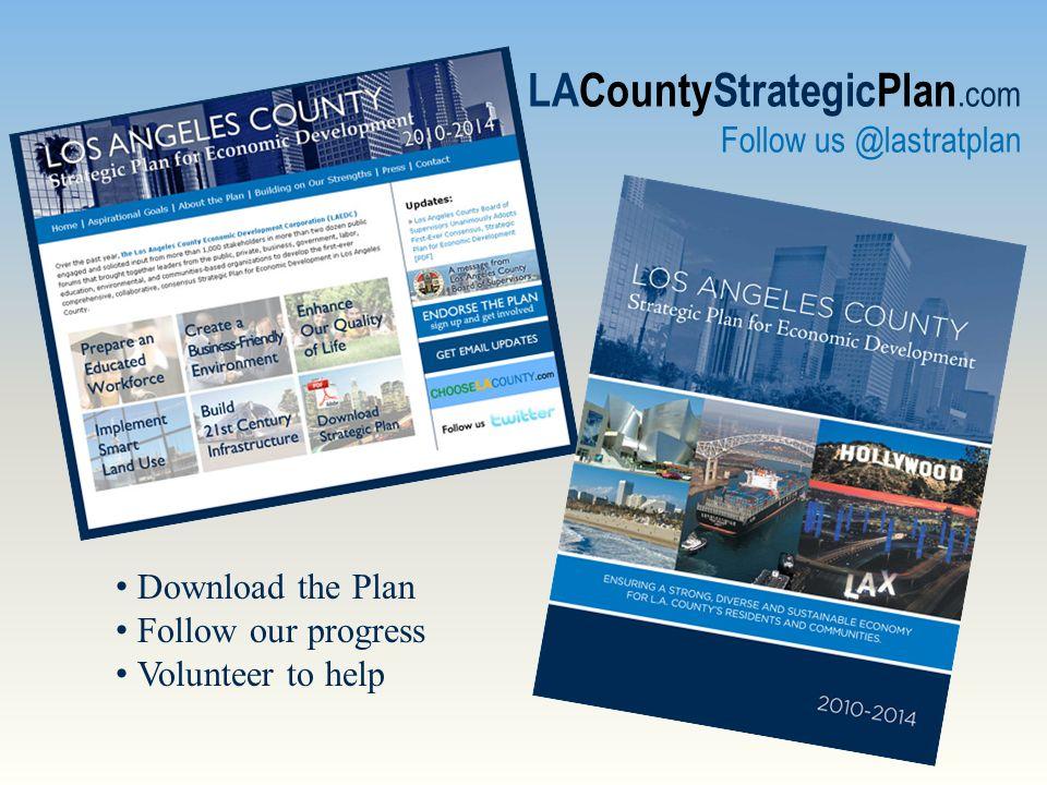 LACountyStrategicPlan.com Follow us @lastratplan Download the Plan