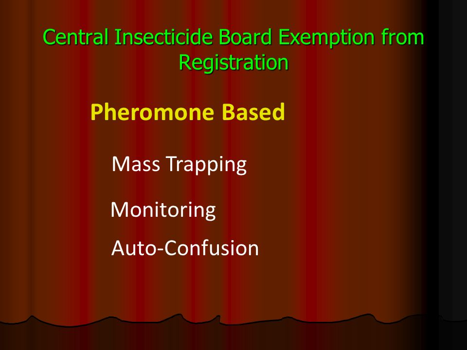 Central Insecticide Board Exemption from Registration