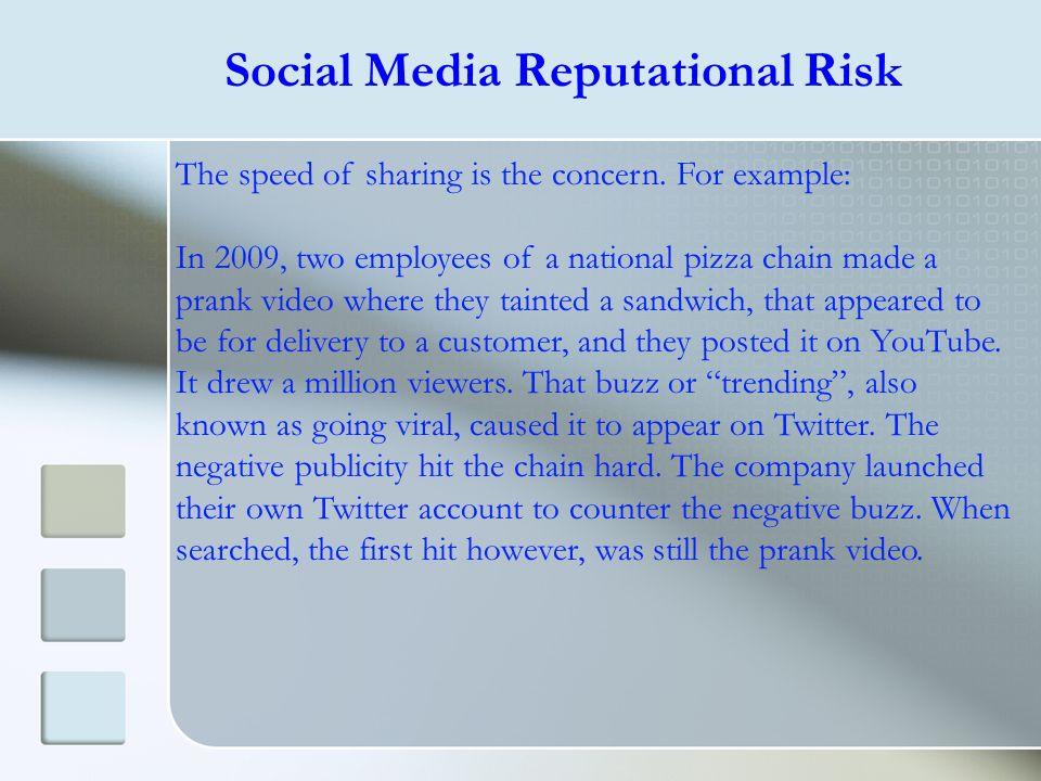 Social Media Reputational Risk