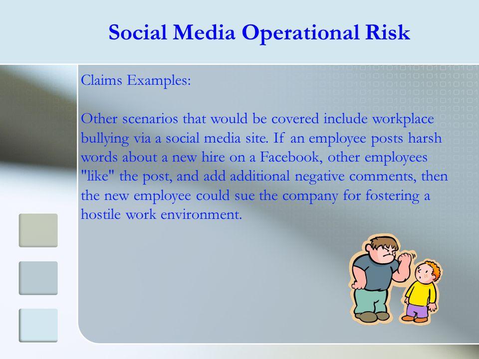 Social Media Operational Risk