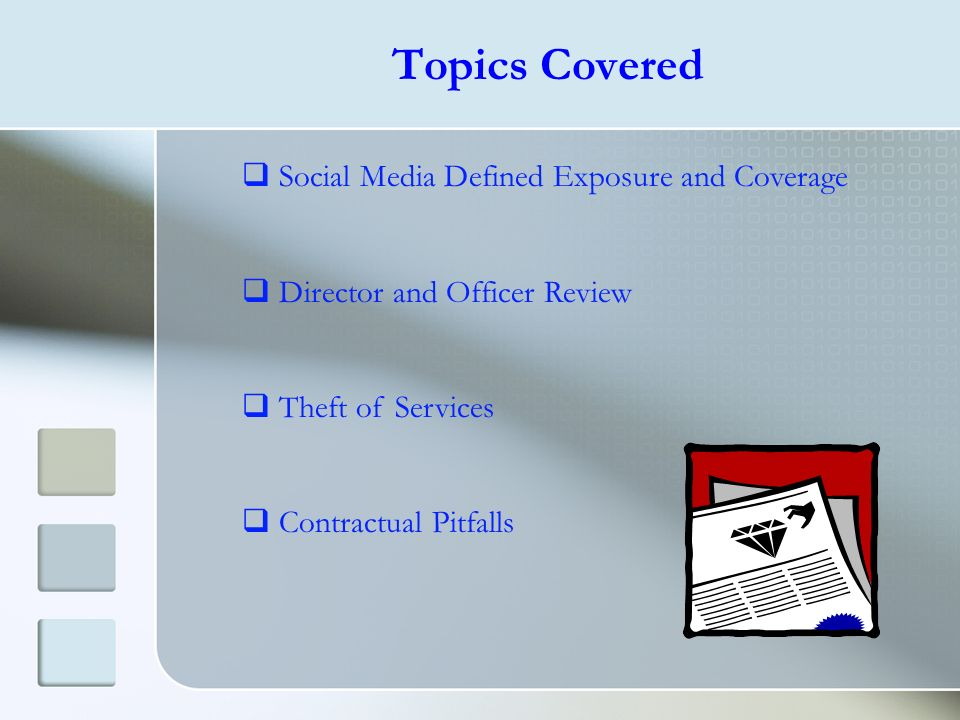 Topics Covered Social Media Defined Exposure and Coverage