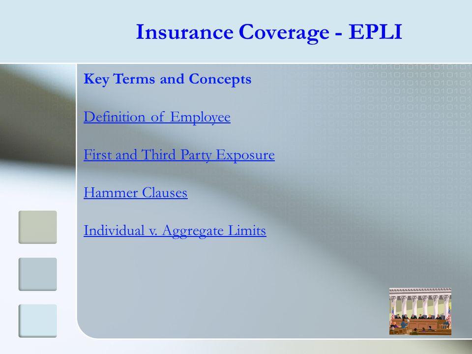 Insurance Coverage - EPLI