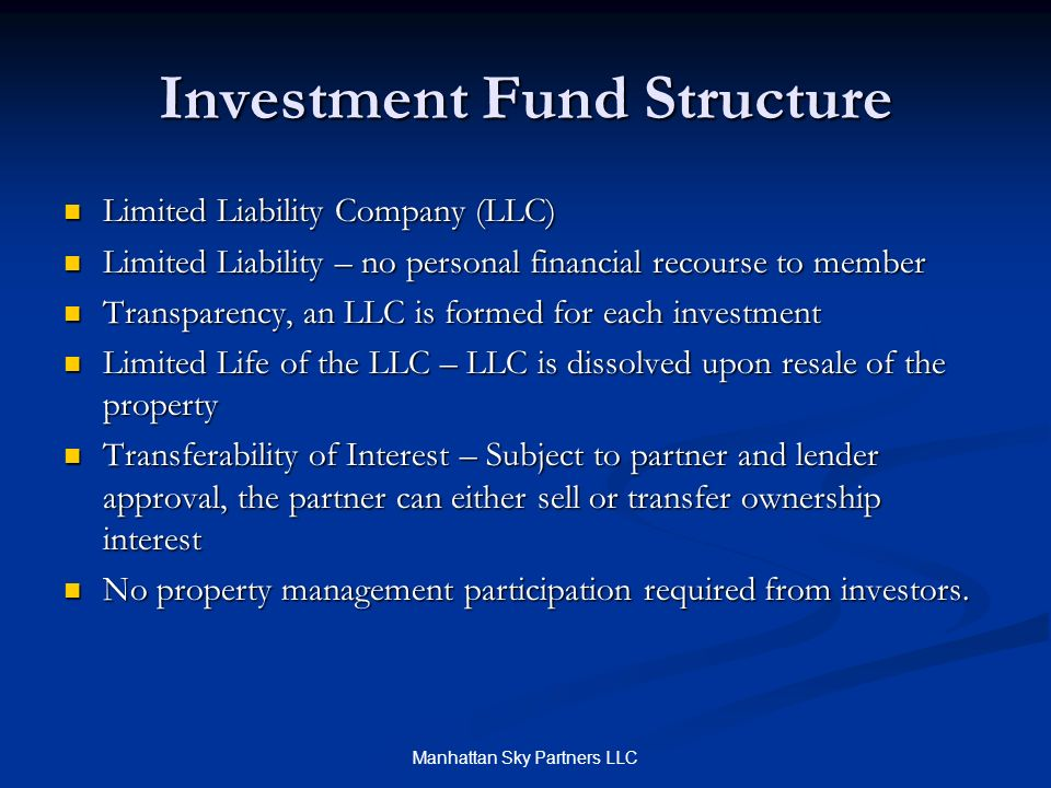 Investment Fund Structure