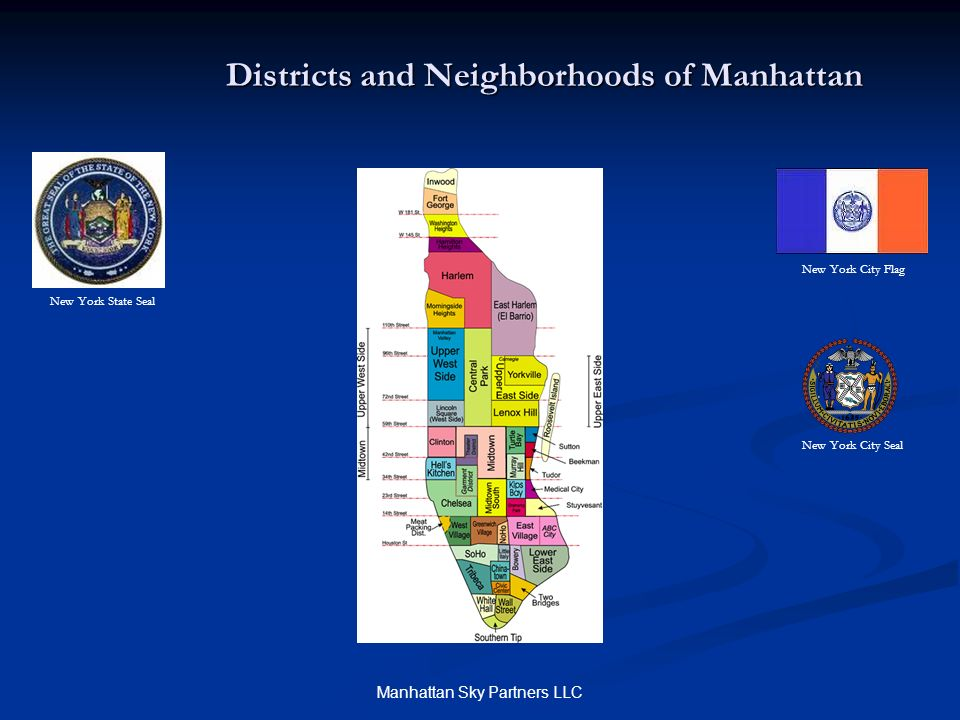 Districts and Neighborhoods of Manhattan