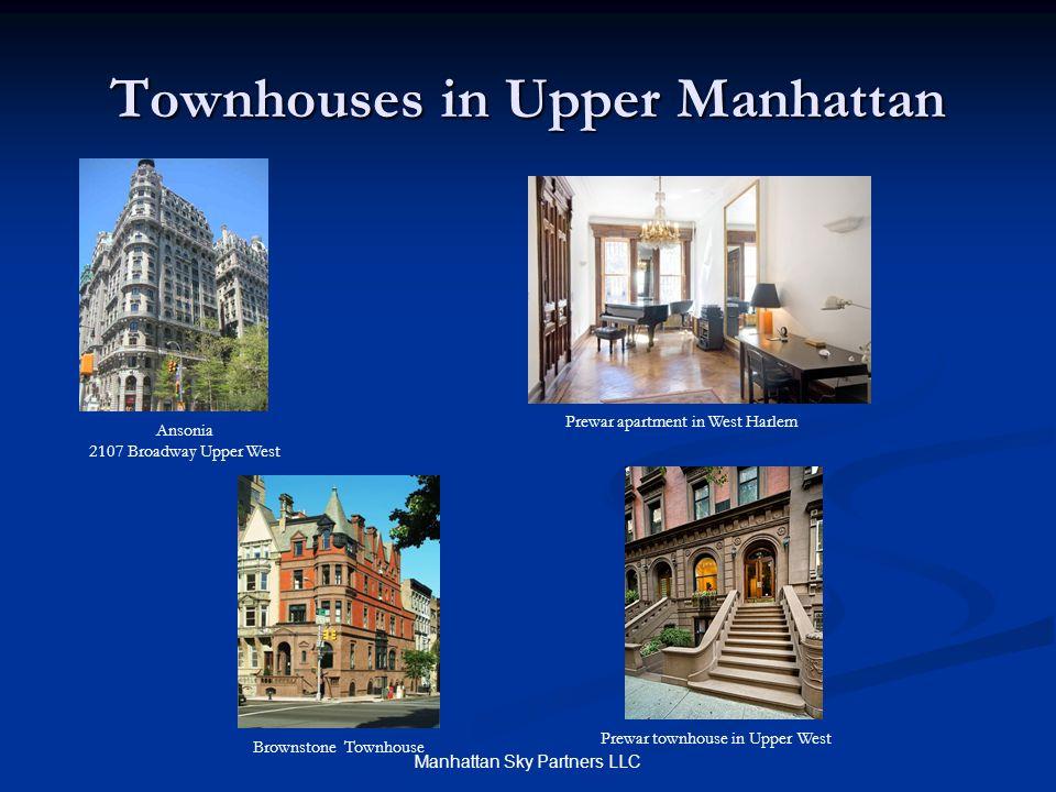Townhouses in Upper Manhattan