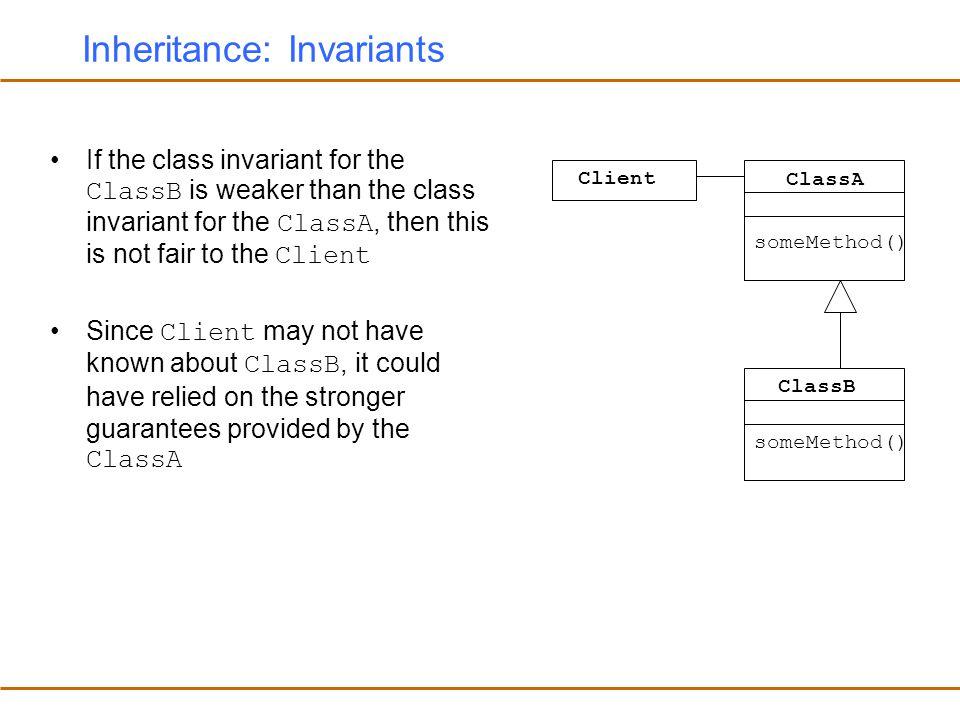 Inheritance: Invariants