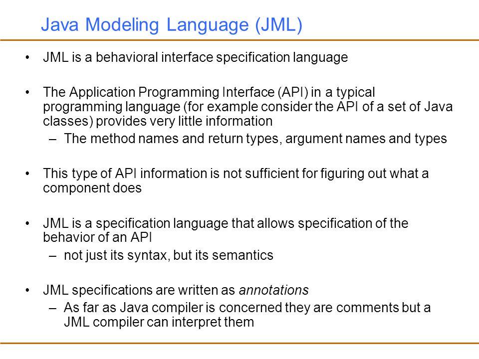 Java Modeling Language (JML)