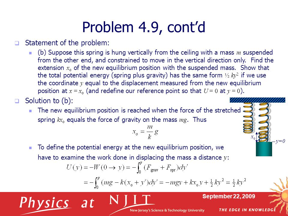 Problem 4.9, cont'd Statement of the problem: Solution to (b):