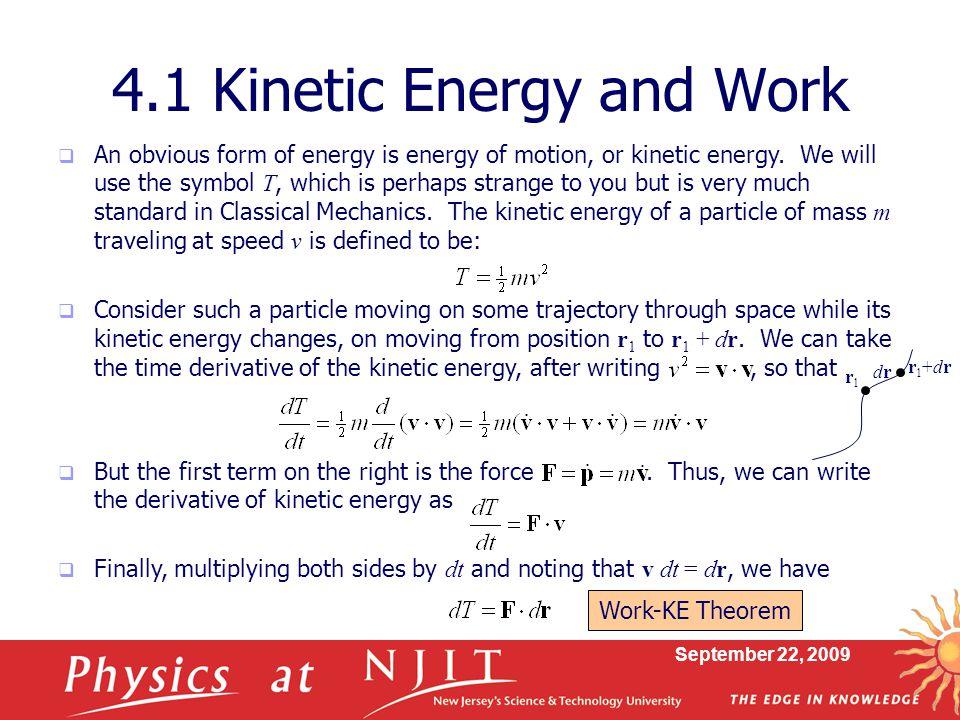 4.1 Kinetic Energy and Work