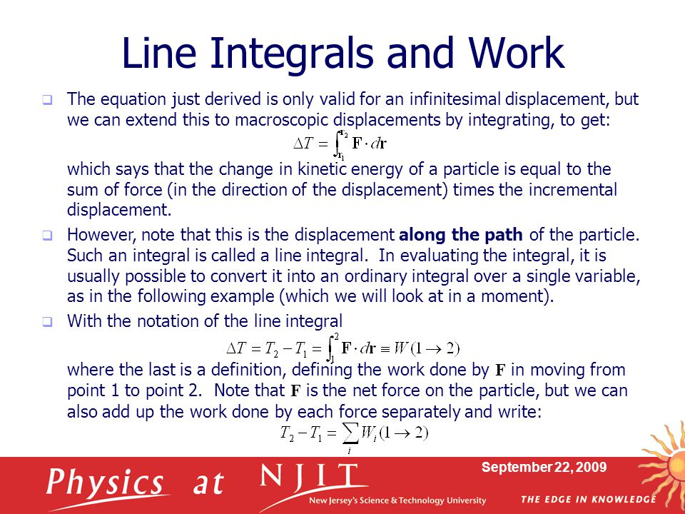 Line Integrals and Work