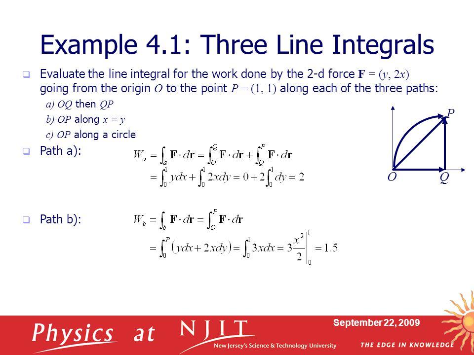 Example 4.1: Three Line Integrals