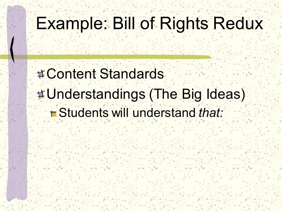 Example: Bill of Rights Redux