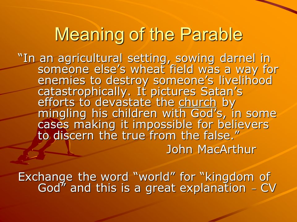Meaning of the Parable