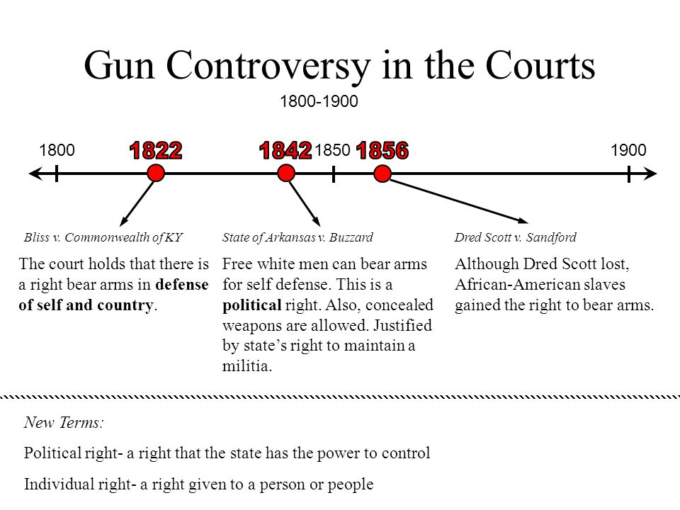 Gun Controversy in the Courts