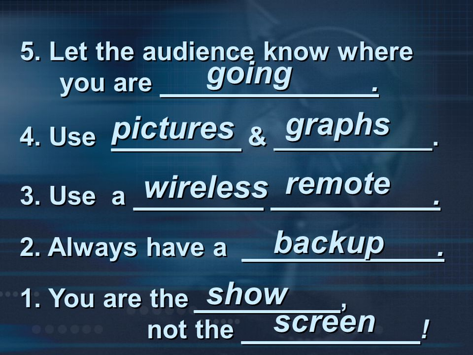 going graphs pictures remote wireless backup show screen