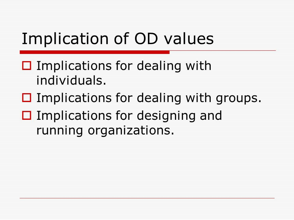 Implication of OD values