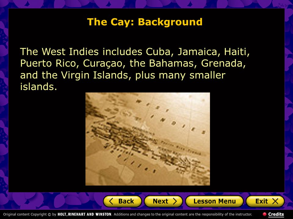 The Cay: Background