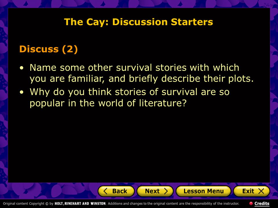 The Cay: Discussion Starters