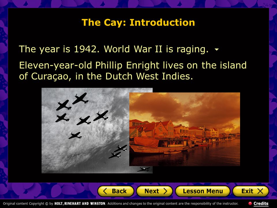 The Cay: Introduction The year is 1942. World War II is raging.