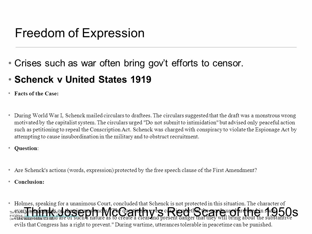 Think Joseph McCarthy's Red Scare of the 1950s