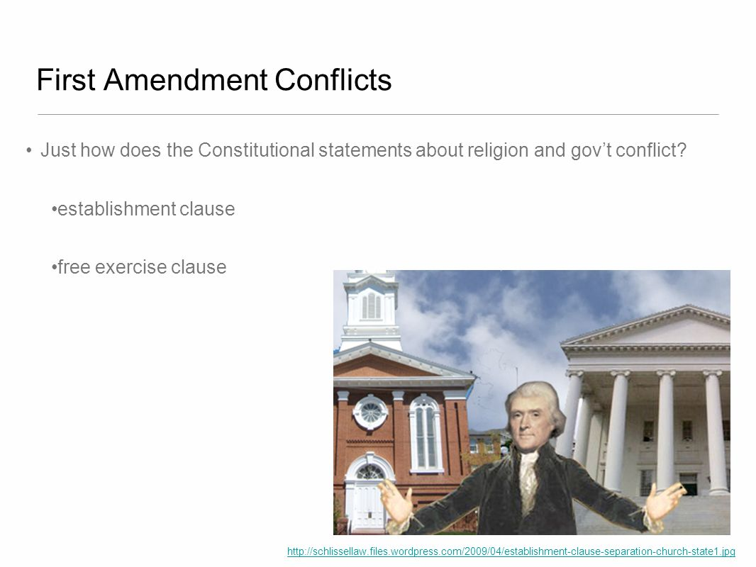 First Amendment Conflicts
