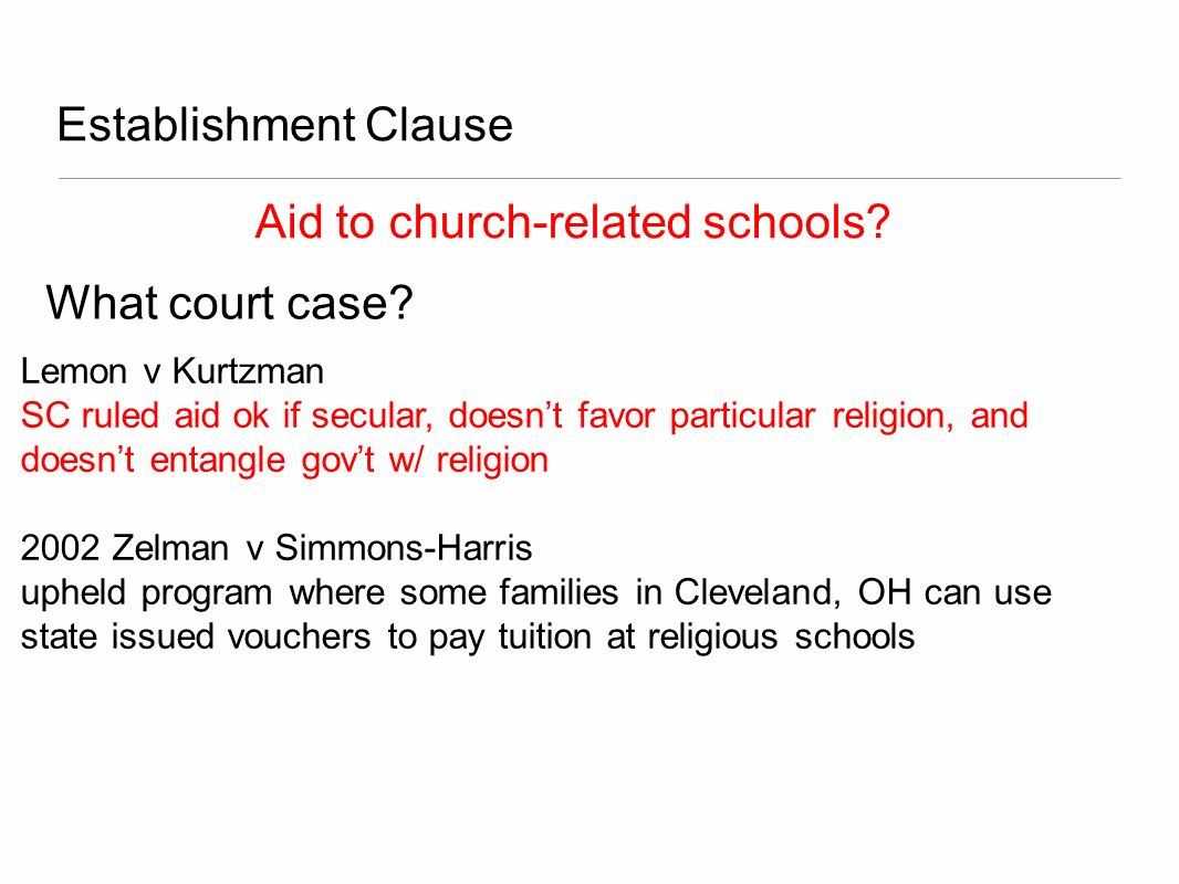 Aid to church-related schools