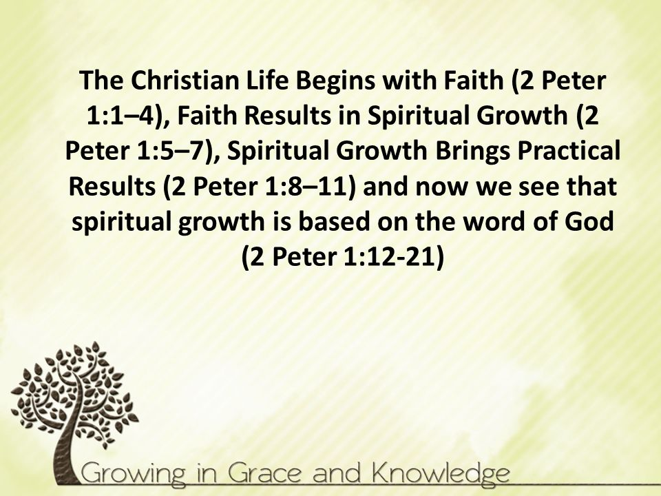 2 Peter 1. 2 Peter 1 The word know or knowledge is used at ...