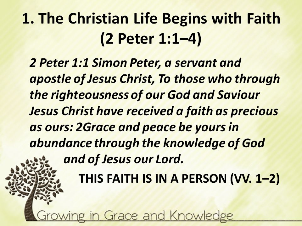 1. The Christian Life Begins with Faith (2 Peter 1:1–4)