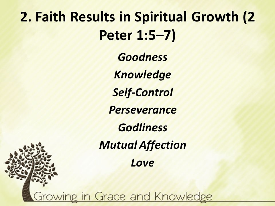2. Faith Results in Spiritual Growth (2 Peter 1:5–7)