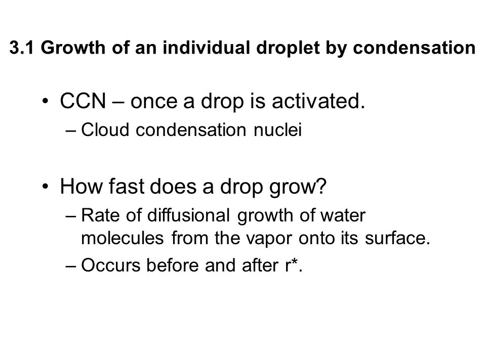 CCN – once a drop is activated.
