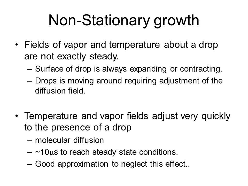 Non-Stationary growth