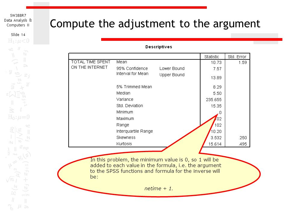 Compute the adjustment to the argument