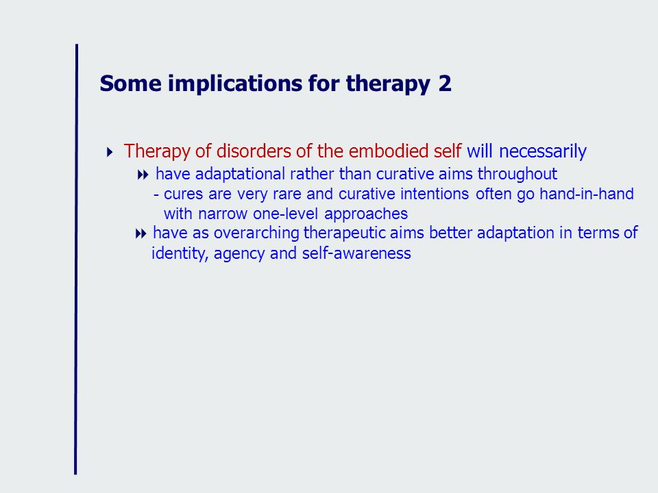 Some implications for therapy 2