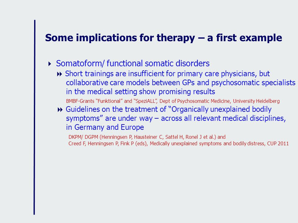 Some implications for therapy – a first example