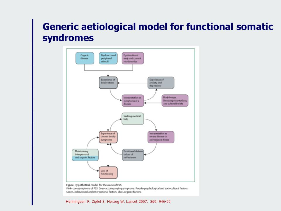 Generic aetiological model for functional somatic syndromes